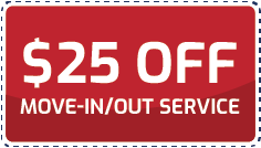 Coupon $25 off move in/out services