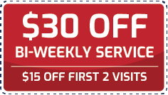 Coupon $30 off bi-weekly service